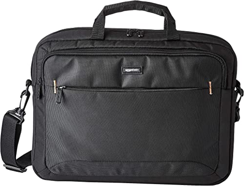Amazon Basics Sac à bandoulière compact pour ordinateur portable avec poches de rangement pour accessoires (15,6 pouc...