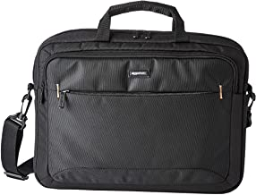 Amazon Basics 15.6-Inch Laptop Computer and Tablet Shoulder Bag Carrying Case, Black, 1-Pack