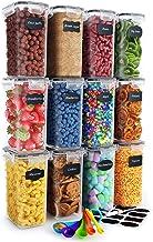 Chef's Path Juego Recipientes Herméticos de Plástico Almacenamiento Alimentos – 12 Piezas Pequeñas – 2 l. - Organización Cocina, Alacena – Harina, Azúcar – Sin BPA – Etiquetas, Marcador y Cucharas
