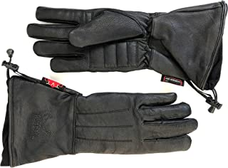 Hugger Women's Classic Motorcycle Glove Seasonal Wind Stopper Lined Gauntlet