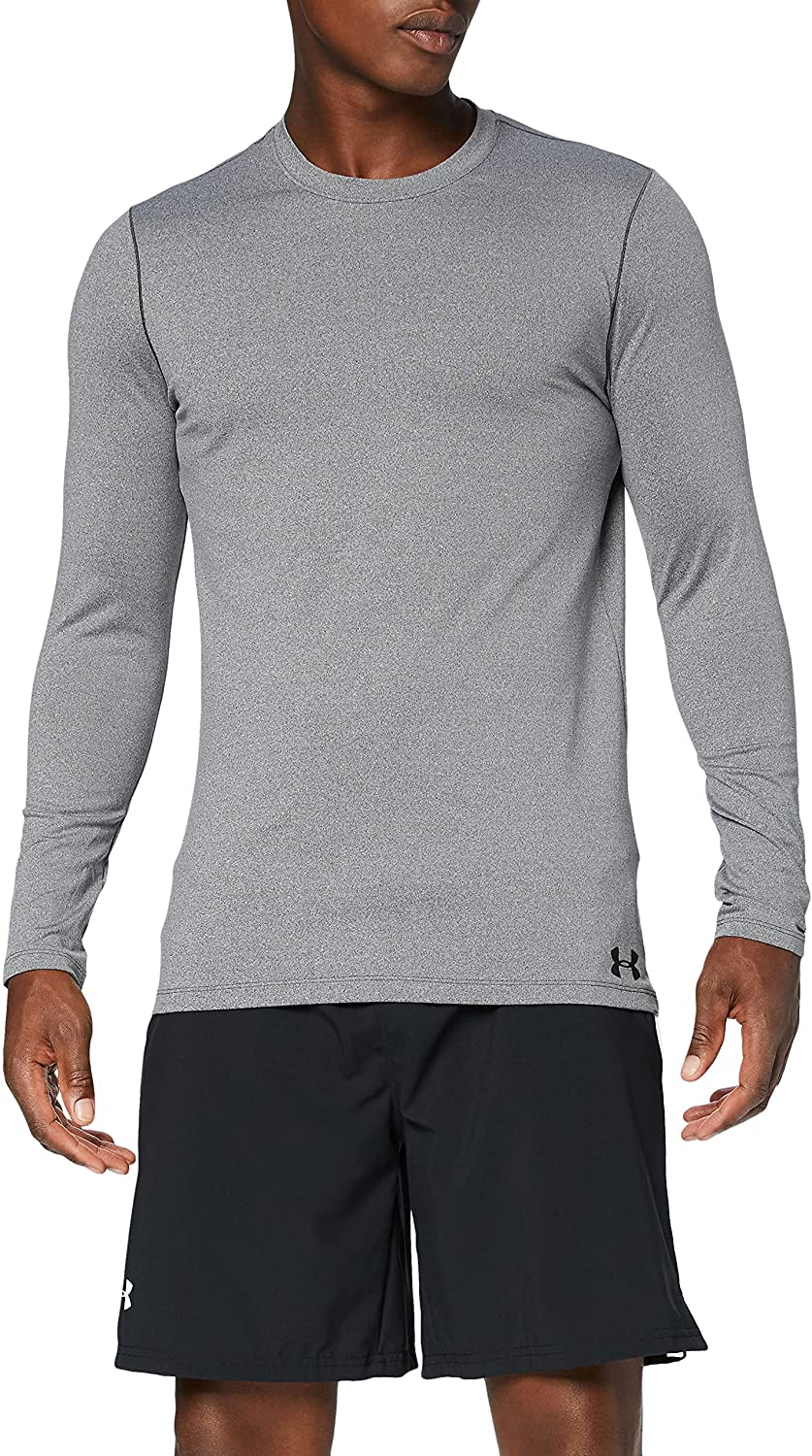 Under Armour Men's ColdGear Fitted Long Sleeve Crew 67% OFF of store fixed price T-Shirt