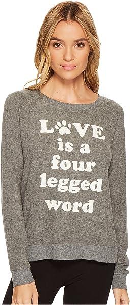 Four Legged Word Long Sleeve Top