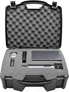 Best CASEMATIX Wireless Microphone Case - Hard Shell Mic Case with Customizable Foam Compatible with Sennheiser, Shure, Audio Technica, Nady, VocoPro, AKG Systems with Receivers, Transmitters and Mics Review
