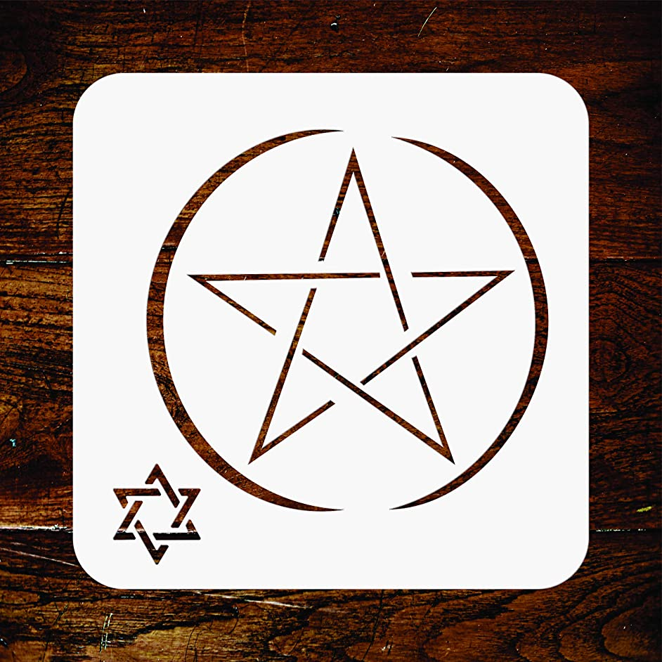 Star of David Stencil - 3.25 x 3.25 inch - Reusable Religious Jewish Magen David Wall Stencils Template - Use on Paper Projects Scrapbook Journal Walls Floors Fabric Furniture Glass Wood etc.