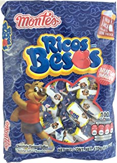Ricos Besos Chocolate Flavored Tofee Candy 100pcs (Net Weight 16.6oz)
