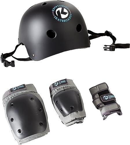 Kryptonics California 4-in-1 Pad Set with Helmet by Kryptonics