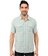 True Grit - Beach Checks Short Sleeve Shirt Two-Pocket Combed Cotton Double Light