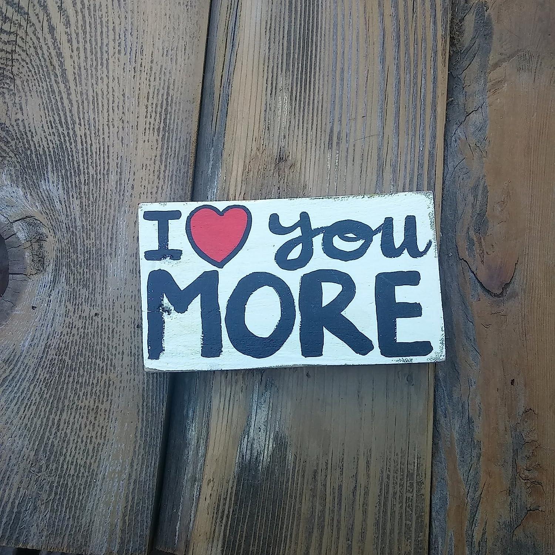 I [Alternative dealer] Love You More Y Block lowest price Wood Decorative