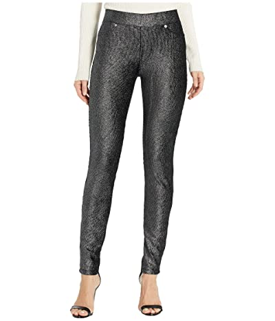 MICHAEL Michael Kors Foil Pull-On Leggings (Black/Silver) Women