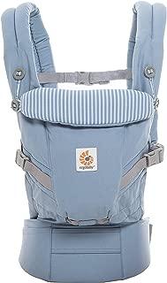 Ergobaby Adapt Award Winning Ergonomic Multi-Position Baby Carrier, Newborn to Toddler, Azure Blue