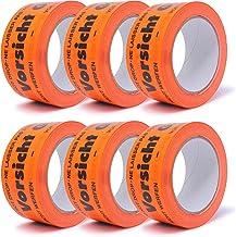 """gws Instructieband waarschuwingstape verpakkingstape markeringstape (6, """"Waarschuwing Glas Flurorange PVC)"""