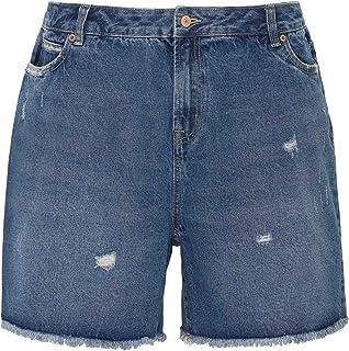 398ad41109 Ex Highstreet Bermuda en Jean pour Femme - à Poches -  Coton/Extensible/Ourlet