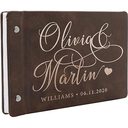Personalized Guest Book Wedding Guest Book Burgundy /& gold Wedding Guestbook Photo Guest Book Wedding Registry Book Custom Guest Book