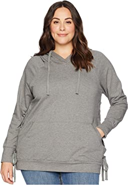 Plus Size Marie Hoodie with Lace-Up Detail