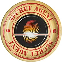 Top Secret Spy Childrens Party Supplies Dinner Plates - 24 Pack