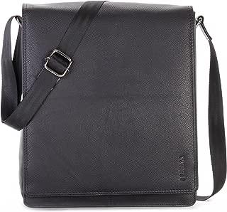LEABAGS London messenger bag shoulder bag for 13 inch laptop of genuine leather in vintage style