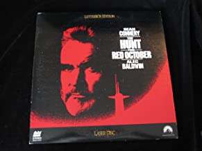 THE HUNT FOR RED OCTOBER - 2 DISC SET - laser discs. SEAN CONNERY - ALEC BALDWIN - JAMES EARL JONES, AND OTHERS IN