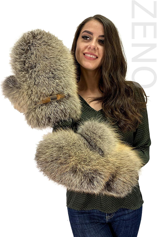 Golden Island Fox Fur Mittens Full Fur Mittens Saga Furs Adjustable