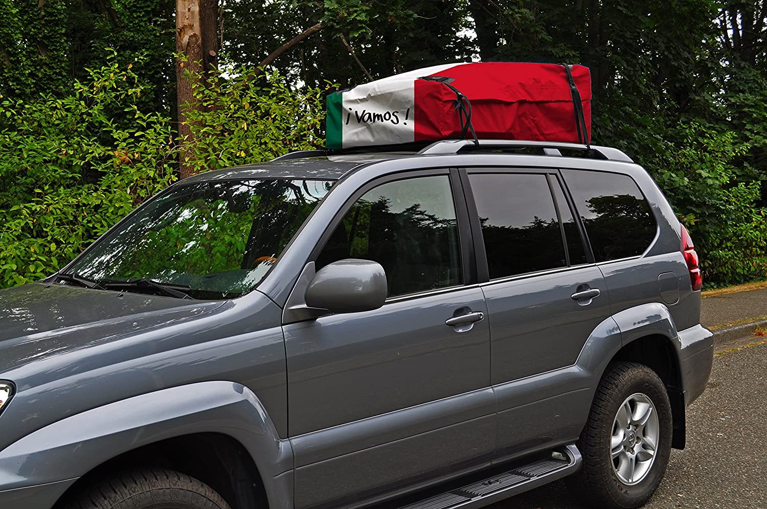 Kanga Waterproof Rooftop Cargo Carrier Storage Roof Bag Canada Flag, Mexico Flag, American Flag, and Woodstock Universal Fit Available in 4 Unique Styles - 14 Cubic feet Capacity Built in USA