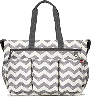 skip hop duo double diaper bag chevron
