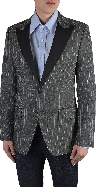 Dolce Gabbana Men's Multicolor 100% Two Button Detroit Mall Si Linen Cheap mail order shopping Blazer