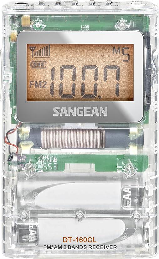 概念天窓愚かなSangean DT-160Cl FM-ステレオ/AMポケットラジオ 明確な
