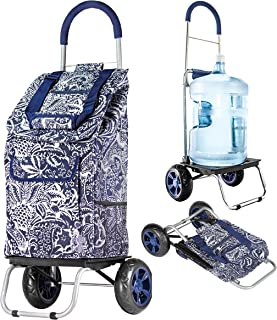 dbest products Trolley Dolly, Victorian Shopping Grocery Foldable Cart