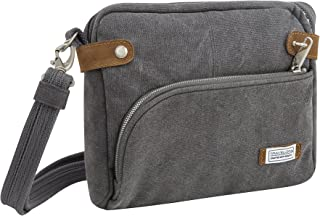 Travelon Anti-Theft Heritage Crossbody Bag, Pewter (Gray) - 33071 540