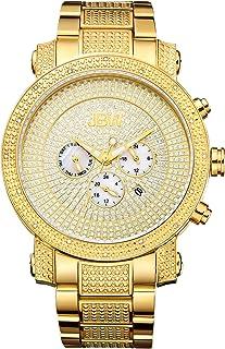 JBW Luxury Men's Victor 16 Diamonds Pave Dial Detail Chronograph Watch - JB-8102-A