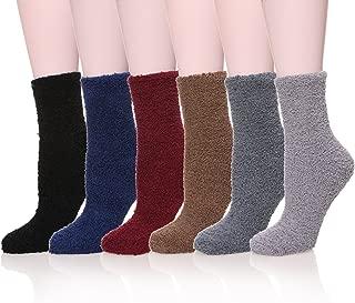 MQELONG Womens Super Soft Fuzzy Cozy Home Sleeping Socks Microfiber Winter Warm Slipper Socks