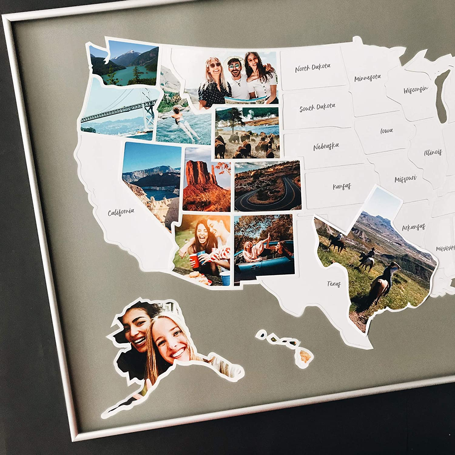 USA Photo Map Credence - 50 Phoenix Mall States Travel Unframed in 36 x 24 M