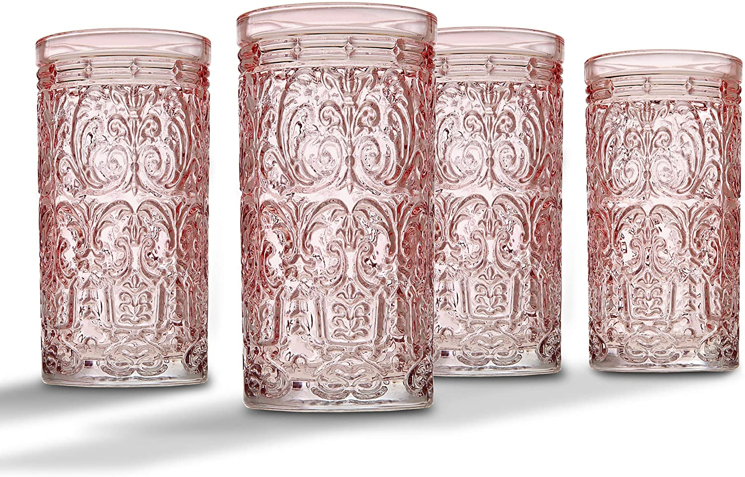 Jax Highball Beverage Glass Cup by Ranking TOP16 Pink 4 of It is very popular Set Godinger -