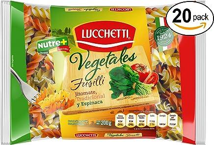 Lucchetti Fusilli Vegetales, 200 g x 20 paquetes