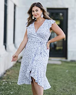 The Drop Vestido Midi Envolvente con Volantes por @Caralynmirand Dresses Mujer