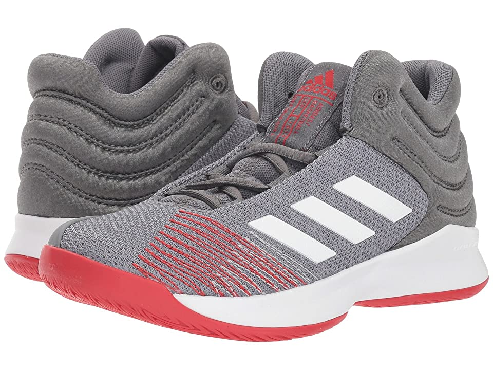 adidas Kids Pro Spark Basketball Wide (Little Kid/Big Kid) (Grey/White/Red) Kid