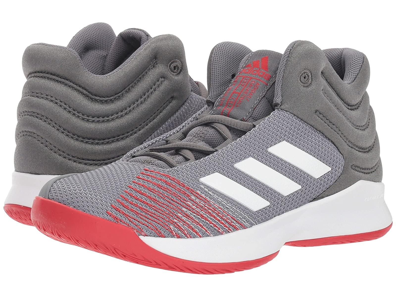 adidas Kids Pro Spark Basketball Wide (Little Kid/Big Kid)Atmospheric grades have affordable shoes