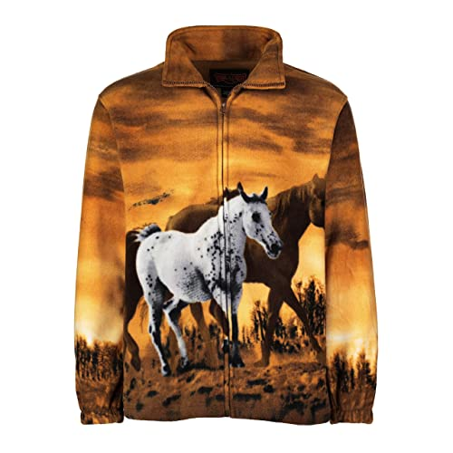3e1399e06d82 TrailCrest Men's Women's Sweater Jacket Full Zip Fleece Horses Wildlife  Sweatshirt Wildkind