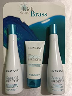 Pravana The Perfect Brunette Toning Shampoo, Conditioner & Masque