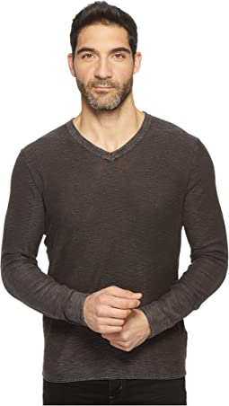 Spring Weight Slub V-Neck