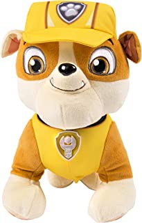 Paw Patrol Deluxe Lights and Sounds Plush - Real Talking Rubble
