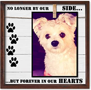 Pet Memorial Picture Frame. Cleverly Designed for 7x5, 4x6, 6x4 & Similar Sizes. Very Practical Sympathy Pet Photo Frame. In Memory of a Dog or Cat. A Caring Loss of Pet Gift & Keepsake.
