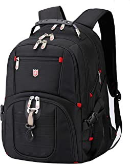 Travel Outdoor Laptop Backpack, Large Water Resitant Hiking Backpack for Active Men and Women. Active 12 by Swiss RUIGAR - Black