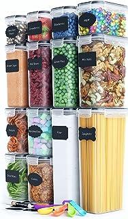 Chef's Path | Vorratsdosen Set aus 14 Frischhaltedosen mit Deckel | Ideal als Vorratsbehälter, Aufbewahrungsbox Küche, Vor...