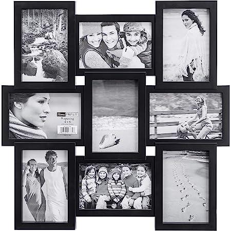 """9 In 1 Collage Photo Frame 10x15cm 4/""""x6/"""" 10x7cm 18x13cm 5/""""x7/"""" 6x8cm Family Frien"""