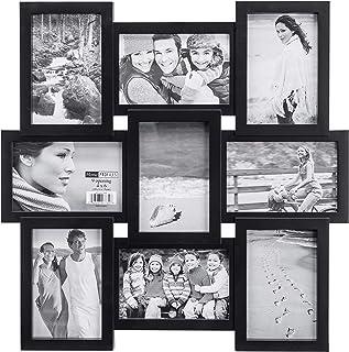 إطار صورة ملصقة 4 × 6 9 فتحات - يعرض 9 صور مقاس 4 × 6 - أسود