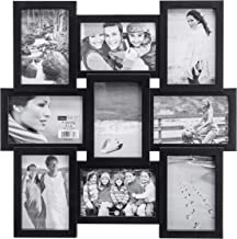 Malden 4x6 9-Opening Collage Picture Frame - Displays Nine 4x6 Pictures - Black