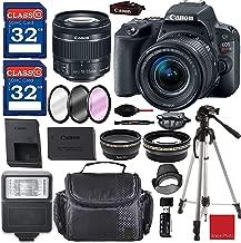 $529 » Canon EOS Rebel SL2 Digital SLR Camera Kit with EF-S 18-55mm f/4-5.6 is STM Lens (Black) and Premium Accessory Bundle