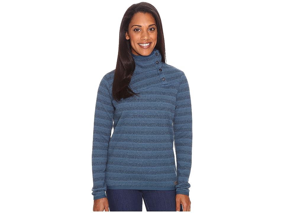 Merrell Freespirit Funnel Neck Sweater (Blue Spruce Tweed) Women