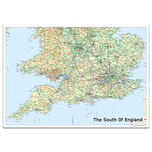 Map Of England With Cities And Towns.Map Of England Amazon Co Uk