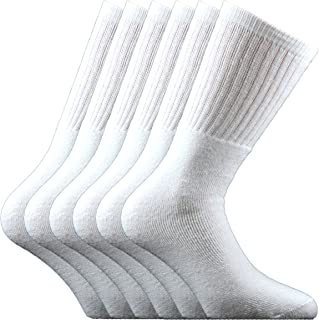 Fontana Calze, 6 paia di calze sportive in cotone spugna - BIANCO